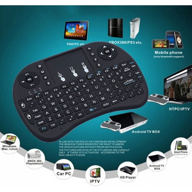 82ea4899c3d I8 Mini Wireless Keyboard 2.4Ghz Fly Air Mouse Remote Control for TV BOX  Tablet | Shopee Philippines