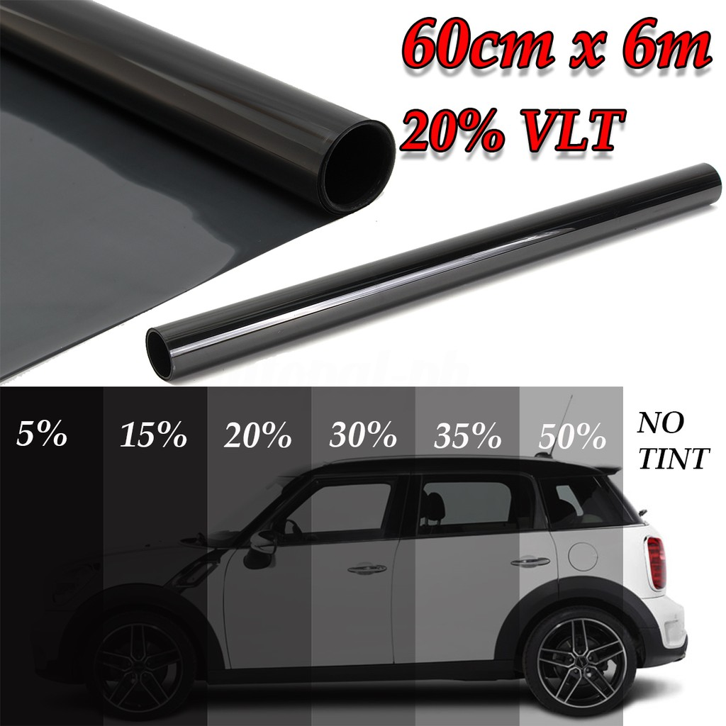 "Uncut Roll Window Tint Film 50/% VLT 40/"" In x 15/' Ft Home Commercial Office Auto"