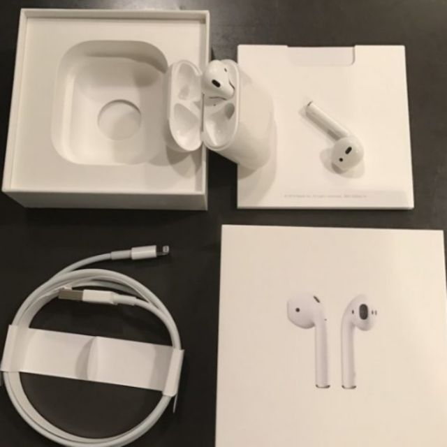 Apple Airpods Original Authentic W Box Bluetooth Shopee