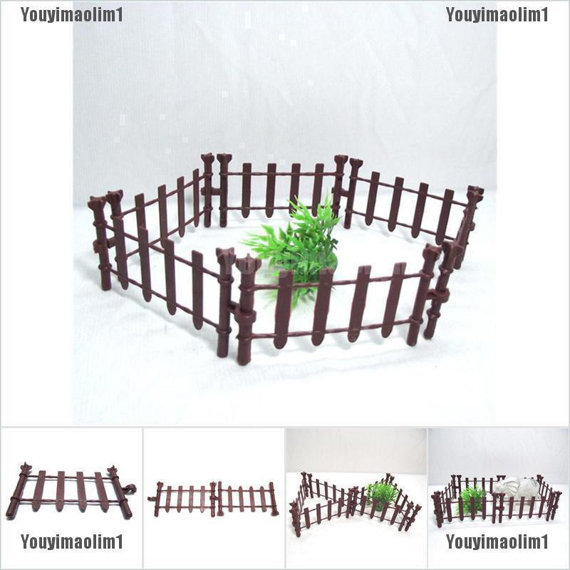 10pcs Farm Animals Fence Toys Military Fence Simulation Model Toy for Children#^