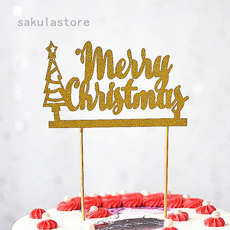 Christmas Cake Topper Festive Cake Topper Winter Party Decor Holiday Party Decor New Years Happy Holidays Cake Topper Christmas Decor