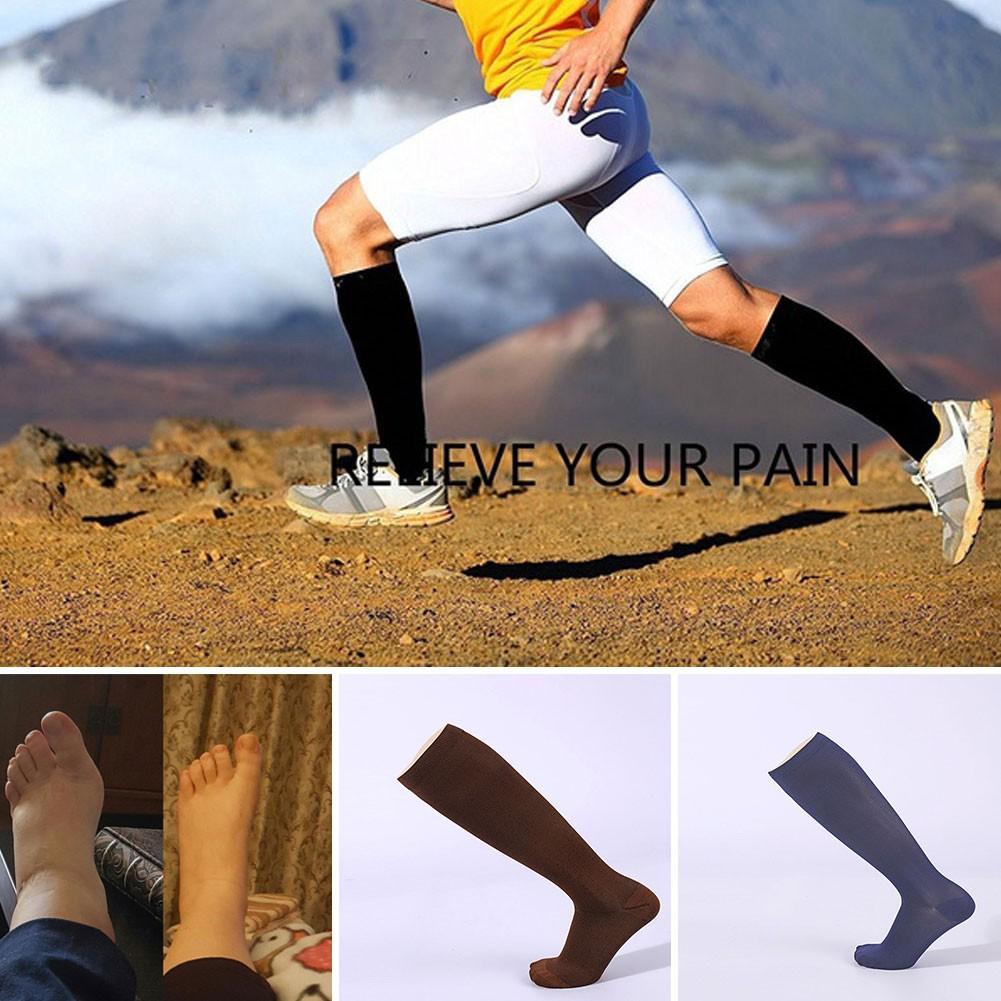 Underwear & Sleepwears Capable Unisex Medical Compression Socks Women Men Pressure Varicose Veins Leg Relief Pain Knee High Stockings Socks Men 1pair New Hot Low Price