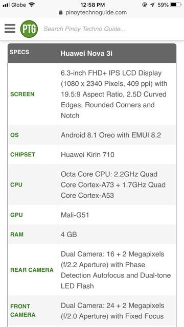 Huawei nova 3i | Shopee Philippines