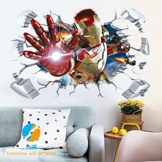Marvel Avengers 4 Movie Poster 3D Iron Man Spider-Man Wallpaper Wall  Sticker Dormitory Bedroom