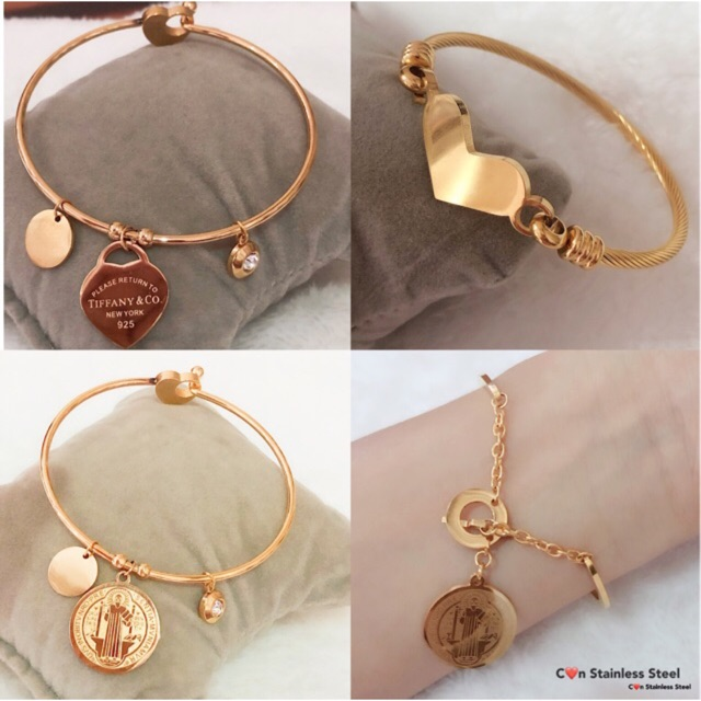 Stainless Bangles St Benedict heart Cross Note Fashion Jewelry Accessories