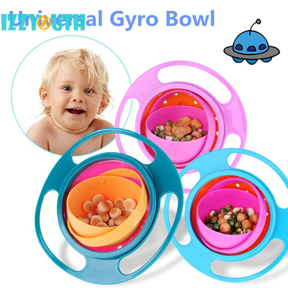 Baby Bowl Children Toddler Eat Snacks Kids Non Spill Proof Food Plate Lunch 360