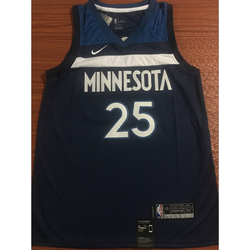 Nike Minnesota Timberwolves Derrick Rose Nba Jersey 25 Blue