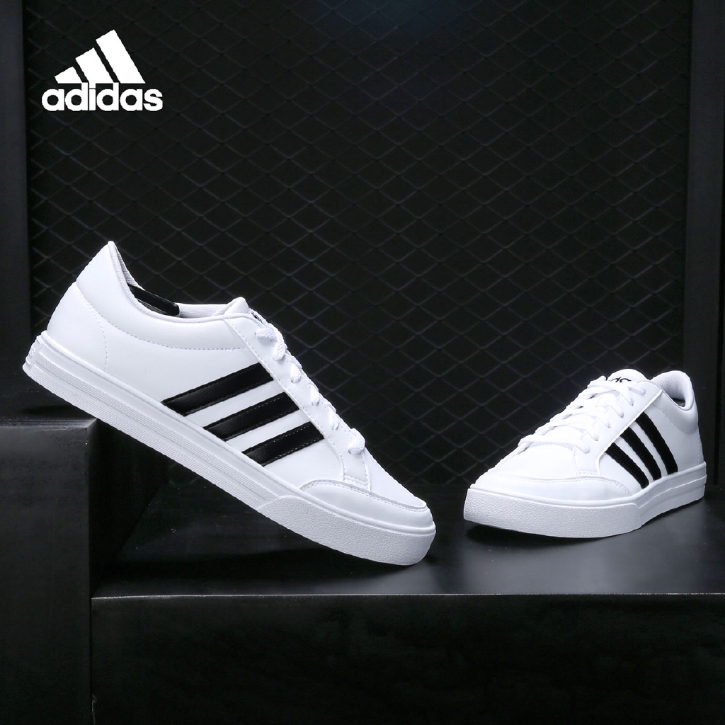 Adidas Adidas VS SET low-top white shoes classic lightweight sports casual shoes BC0130