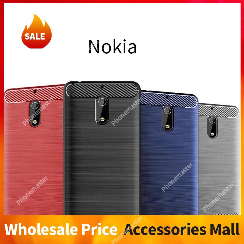 uk availability bc7c6 73412 Nokia 6 6.1 7 8 8.1 9 Plus Sirocco X6 Case Soft Carbon Fiber 4 Color Ready  in Stock