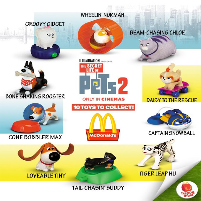 Mcdo Happy Meal Toy The Secret Life Of Pets 2 2019 Sold Per Piece Shopee Philippines