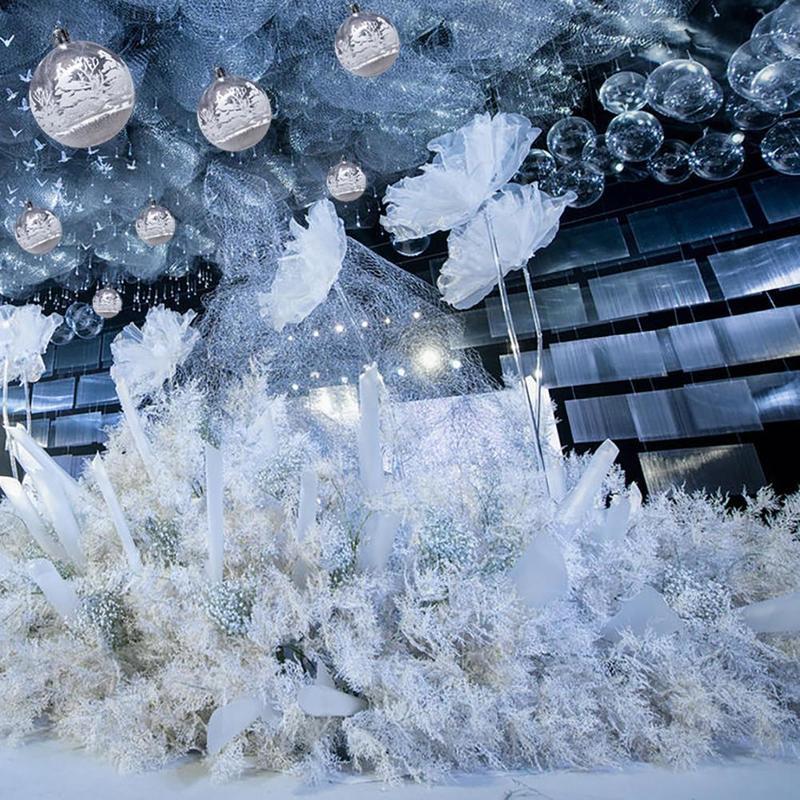 6Pcs//Set Multicolor Plastic Ball Christmas Tree Ornaments Hanging Pendants Craft