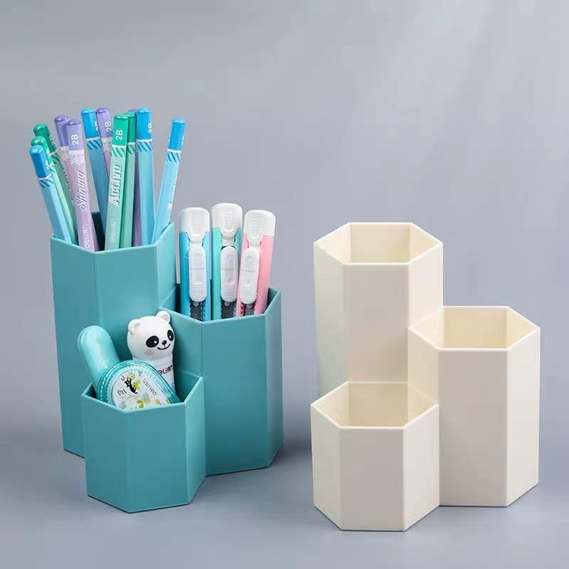 Octagon Pastel Color Pen Holder, Colored Desk Accessories