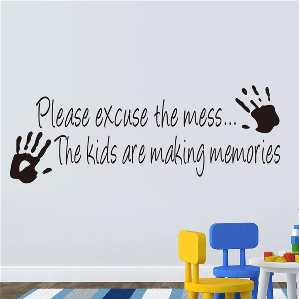 Wall Sticker Decor Quote Wall Decals Kids Room Wall Art Shopee Philippines