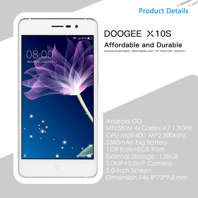 DOOGEE X10S 1GB RAM 8GB ROM Android GO Smartphone 5 0-inch   Shopee