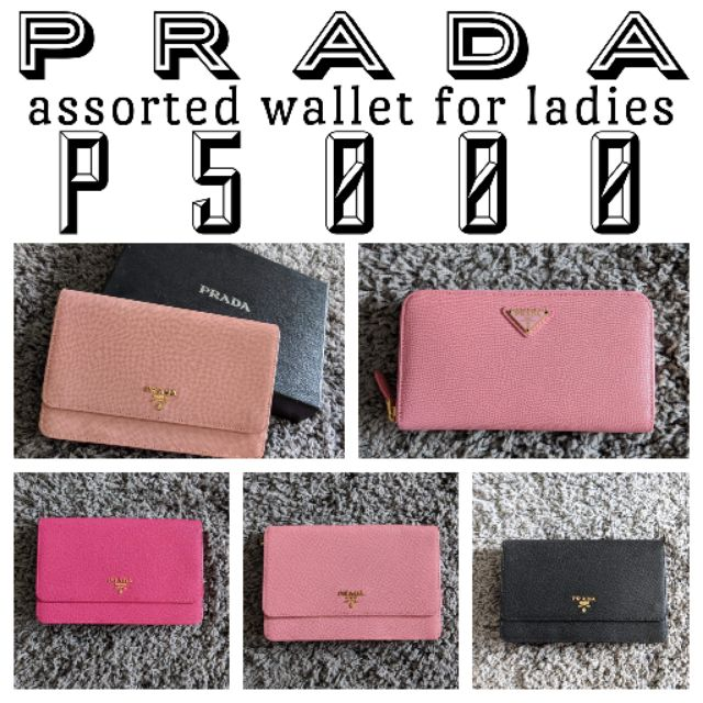 f11a8c8b82ac authentic PRADA wallet   Shopee Philippines