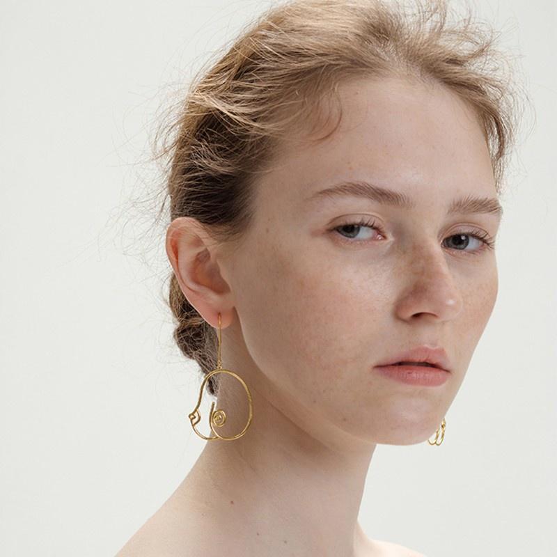 3 Pairs Abstract Lady Breast Statement Hoop Earrings Female Body Boob Earrings