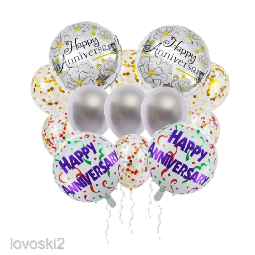 20x Happy Birthday Durable Latex Colorful Balloons Wedding Anniversary Christmas