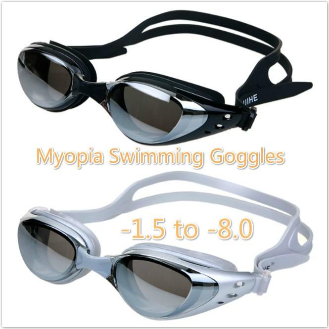 d4fd41e424 Anti-fog Swimming Goggles Optical Silicone mask Adult Swim