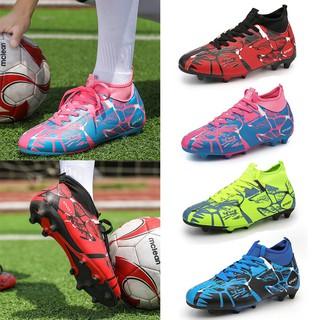 04f246f7e Men High-top Soccer Shoes AG Outdoor Kids Soccer Boots
