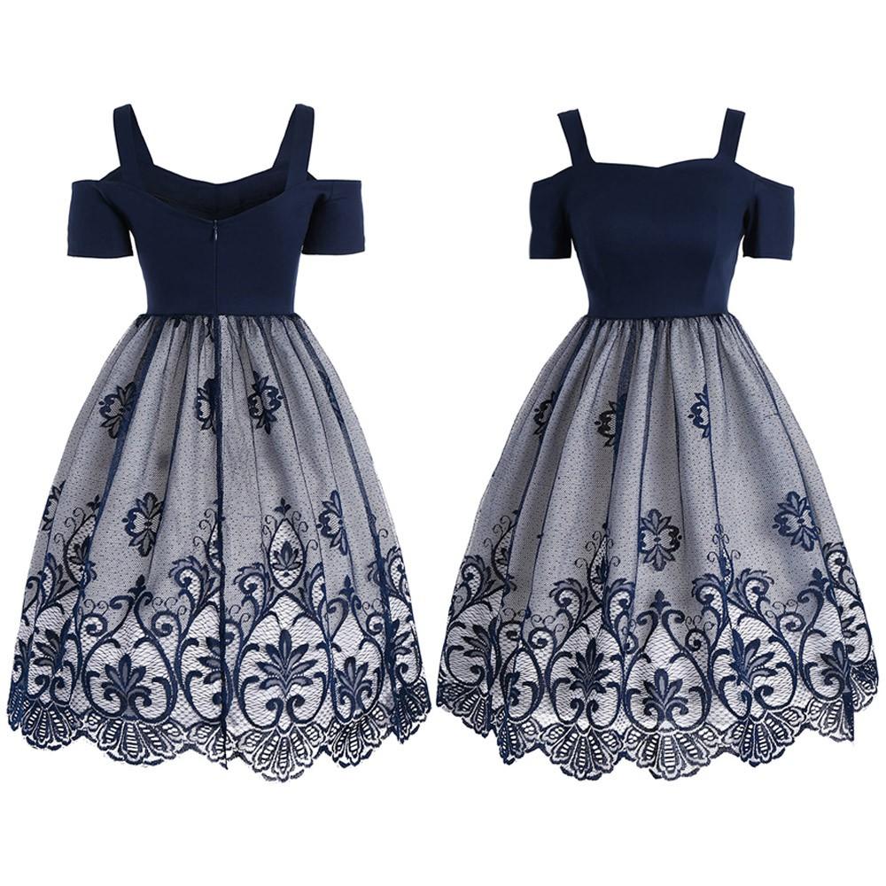 725c25b505f4b Fashionable Women's Vintage Flare Lace Dress | Shopee Philippines