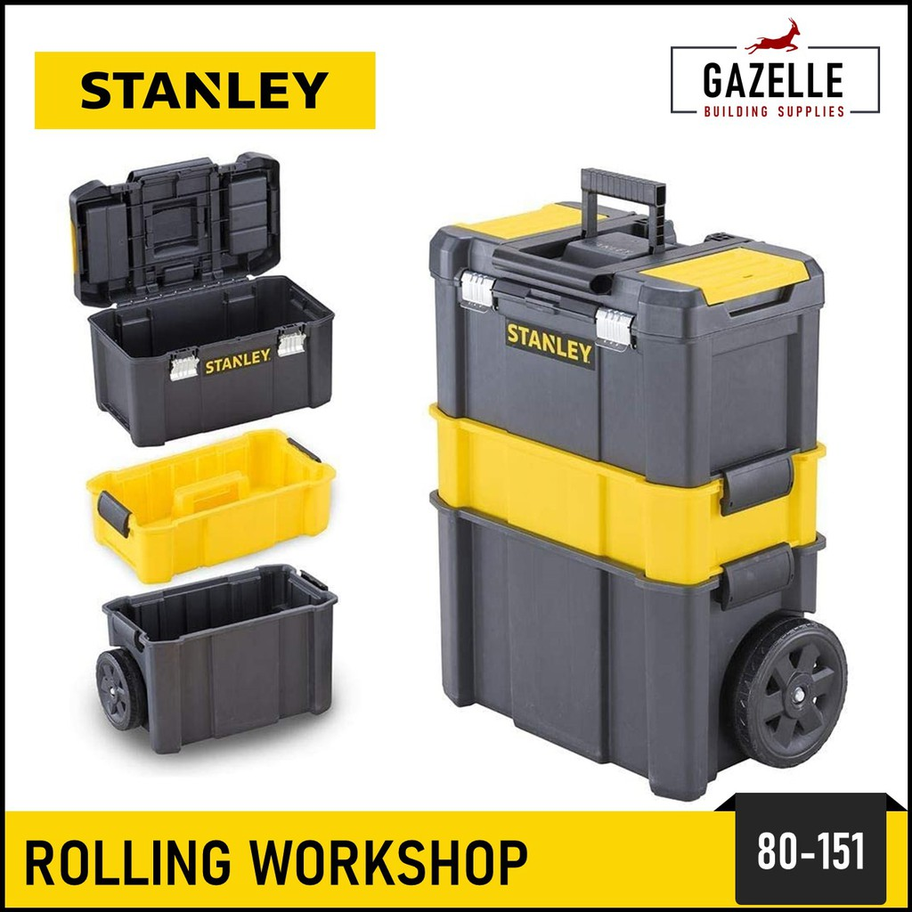 Stanley 20 in 20 Mobile Work Center w/ Wheels Mobile Rolling ...