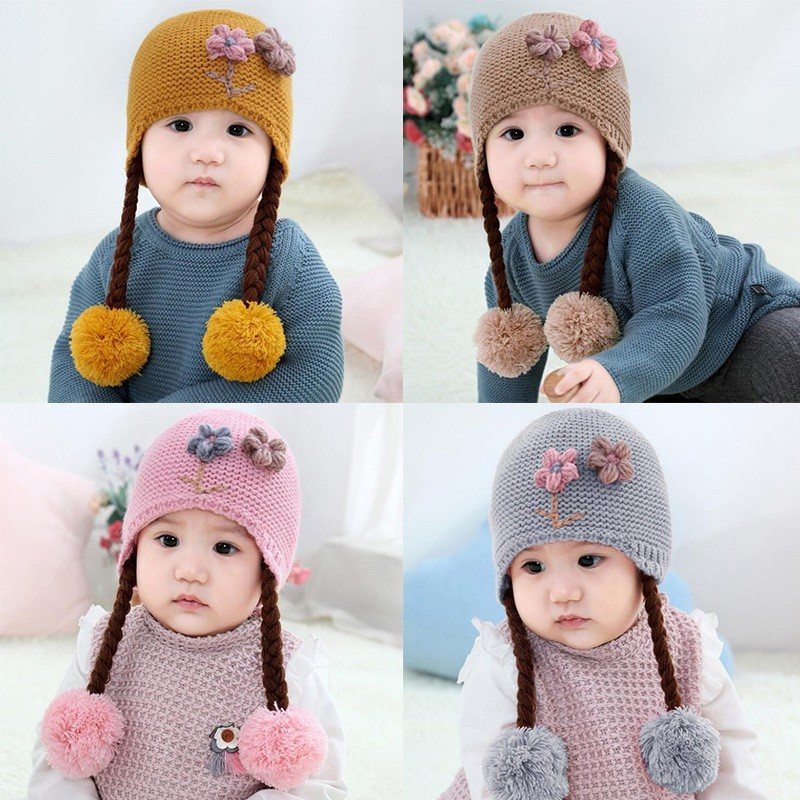 Winter Hat For Babies Toddlers Milk Knitted Soft Comfortable Head Accessories
