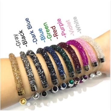 352b47503b0 Swarovski Crystal dust bangles stardust Crystal bracelet | Shopee  Philippines