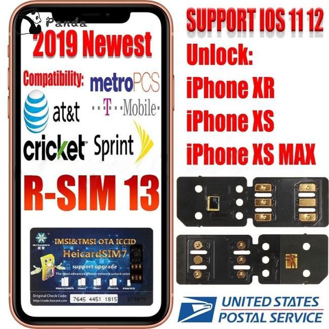 Panda RSIM 13 Nano Unlock Sim Turbo Card fits iPhone XS XS Max XR GPP R iOS  12 11 R 4G