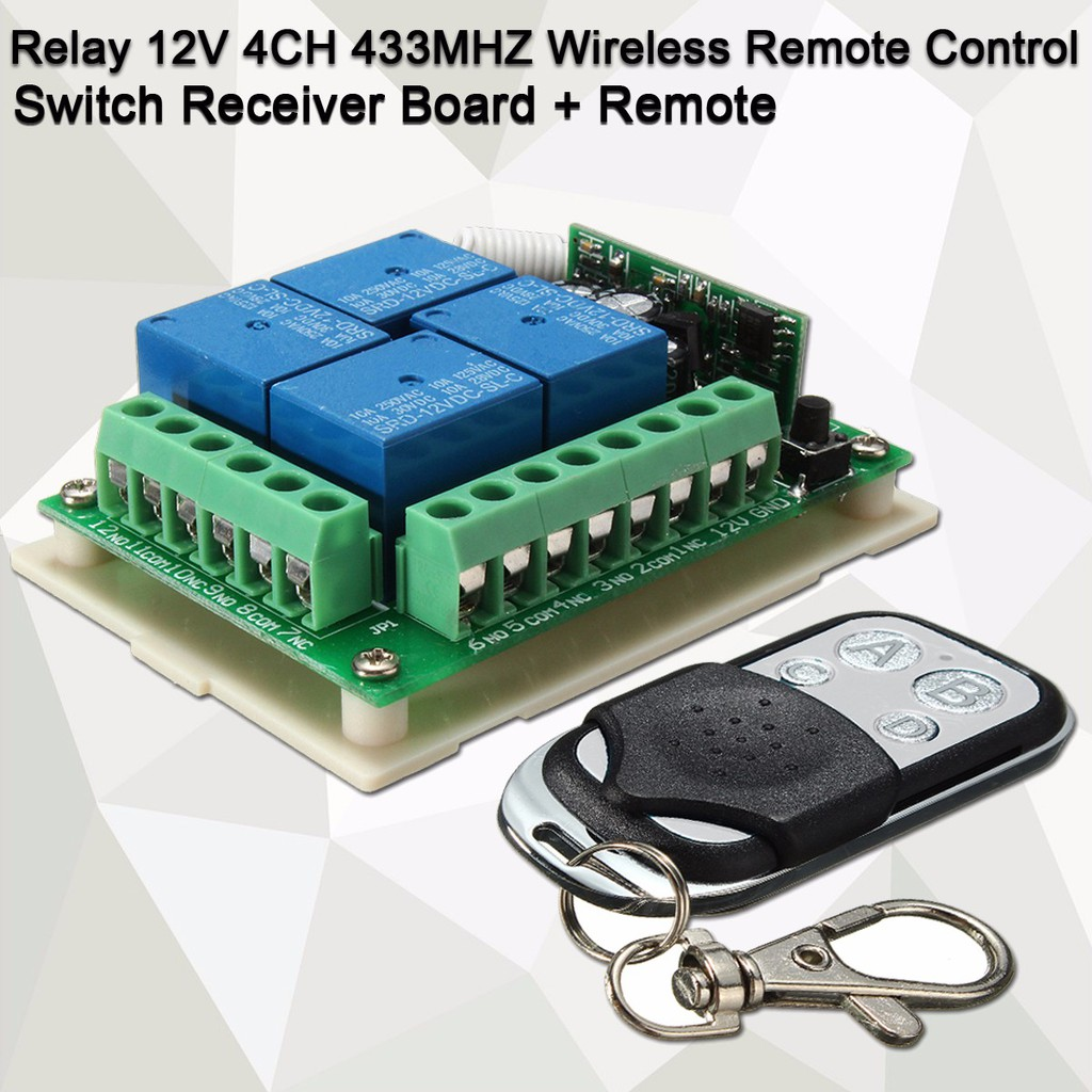 Relay Wireless Remote Control Switch Receiver Board+Remote