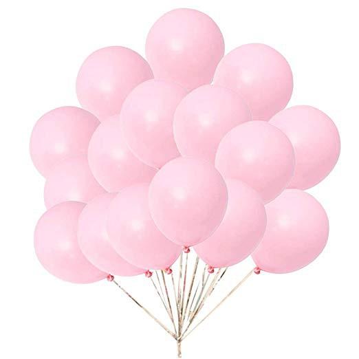 25 x 10 inch Pink Metallic Wedding Balloons BF