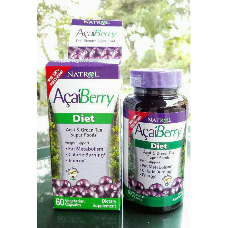 Natrol,Weigth Loss,Acai Berry Diet,Acai & Green Tea,USA Made | Shopee Philippines