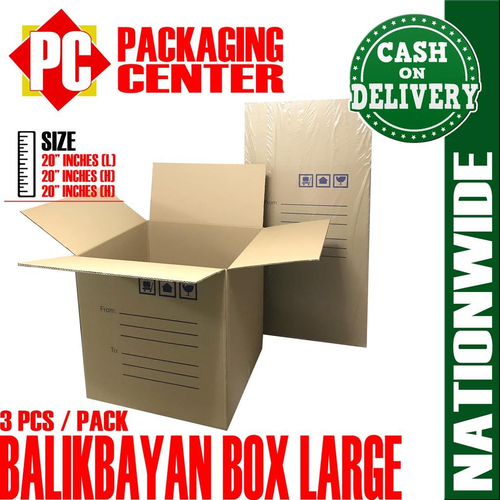 Balikbayan Box Large by 3pcs per pack