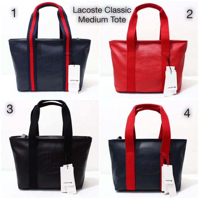 28d0fa0abe3 Lacoste Classic Medium Tote | Shopee Philippines