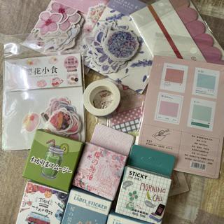 45pcs//pack Cherry Sakura Journal Stickers DIY Diary Stationery Stickers-DG