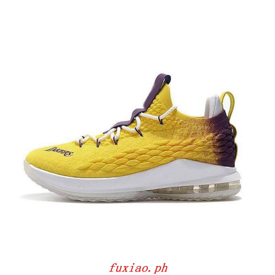 best website 2bcc0 58c94 Nike Lebron 15 Low Lakers Oem (Glorious Quality)