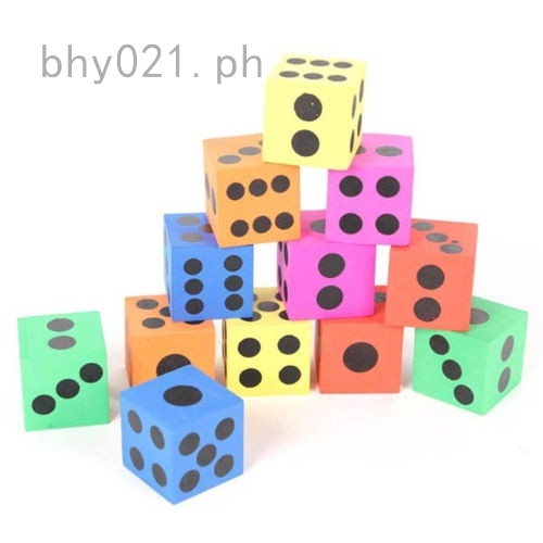 10Pcs 2cm Six Sided Wooden Dice 1-6 Dotted White for Kids Party Bag Fillers