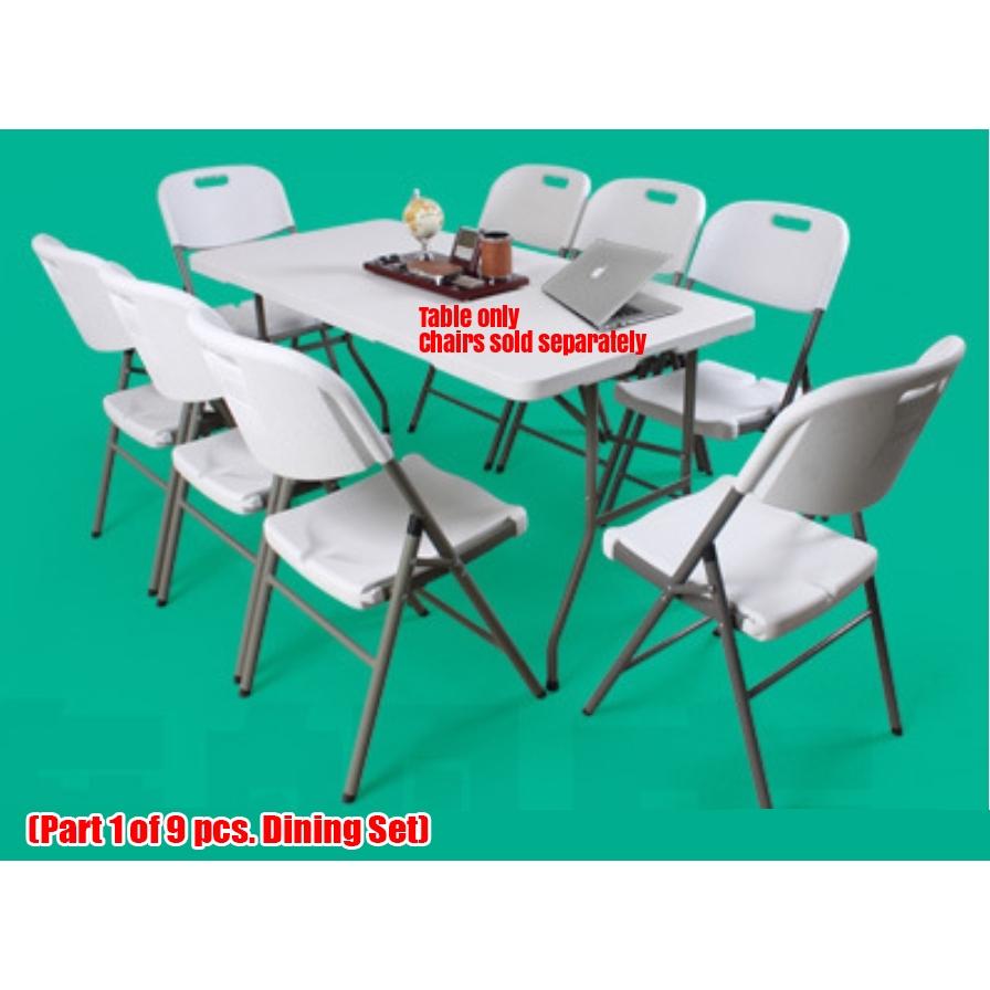 Primetime 6 Ft  Rect  Fold-in-Half Folding Plastic Table