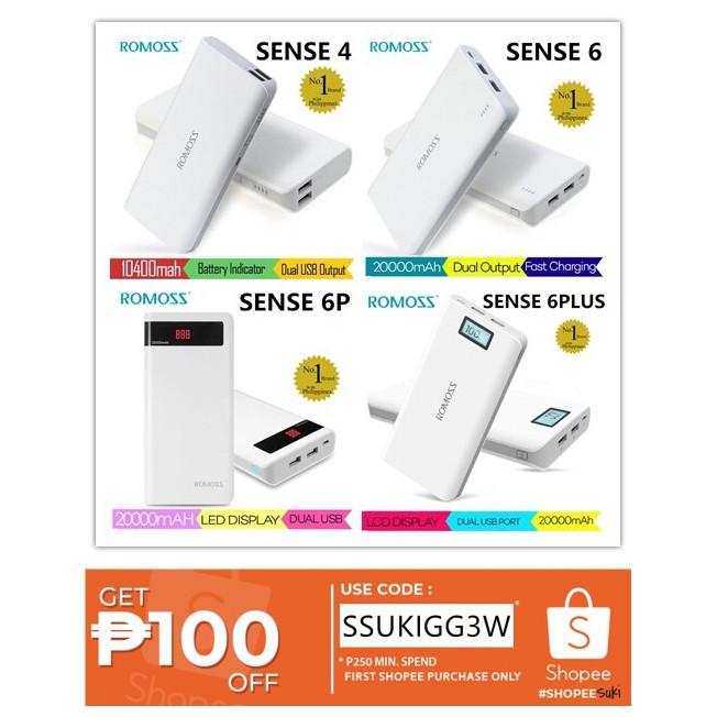 Original Romoss Powerbank Sense Series 20000 mah