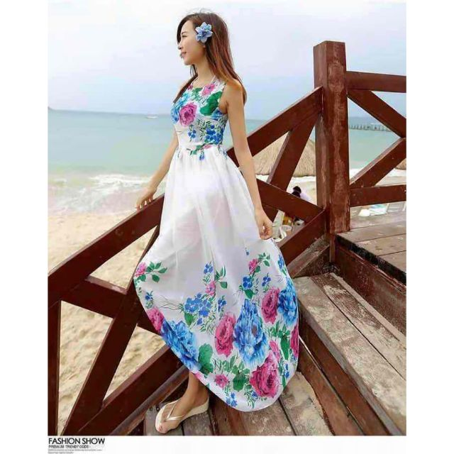 DW 339 Summer Floral Maxi Dress