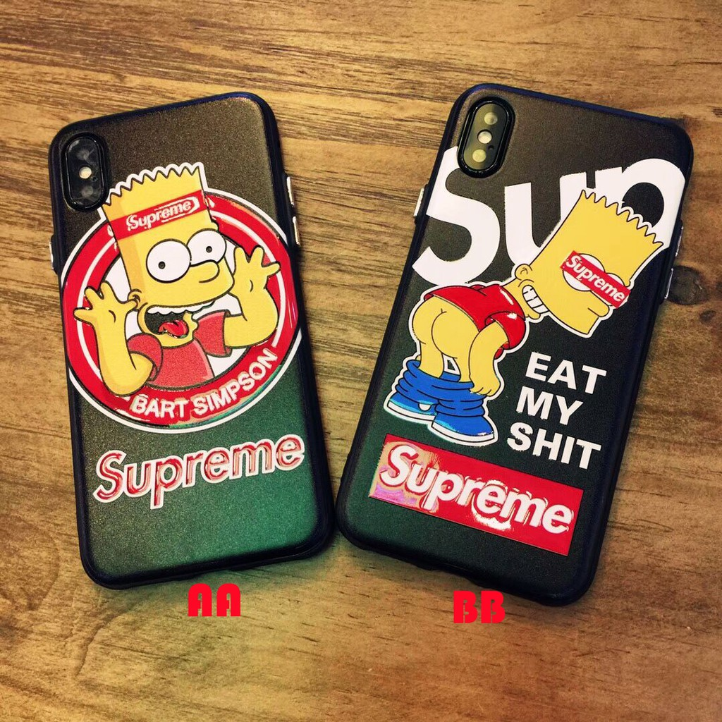 quality design 90855 a31e7 iPhone X 8 7 6 Plus Case Bart Simpson Cell phone Cover