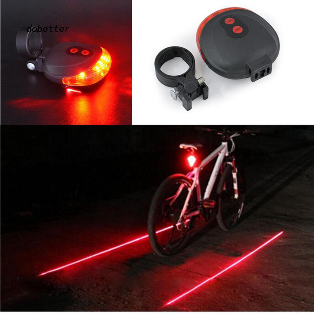 2X LED Bike Red Rear Back Tail Light Bright Safety Lights Warning Safety Bicycle