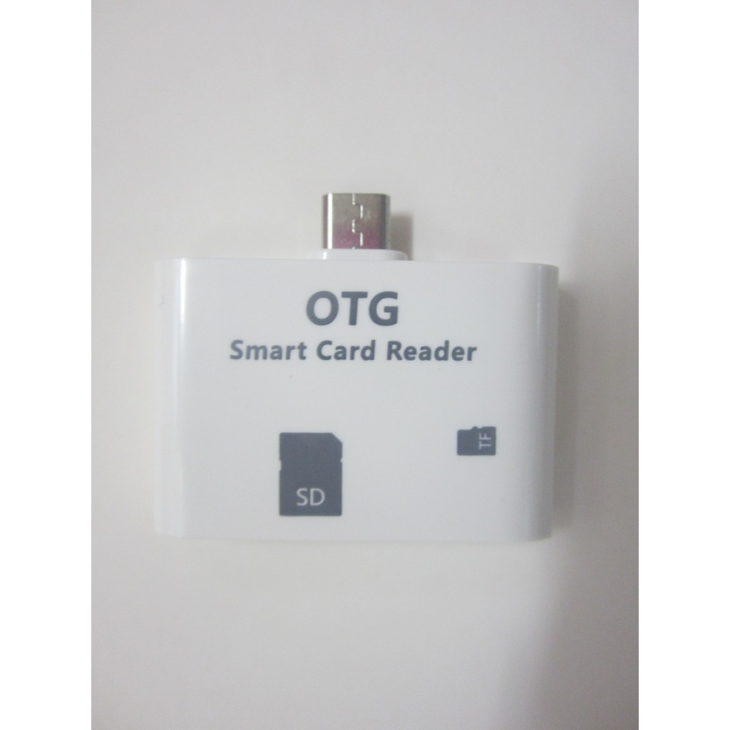 Otg Smart Card Reader Connection Kit For Phone And Pad Micro Sdhc Shopee Philippines