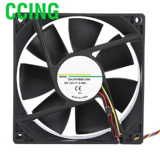 Computer Cooler Fan AFB0912VH 12V 0.60A 4 Wire 9225 92MM 80x25MM DC Brushless PWM Cooling Fans