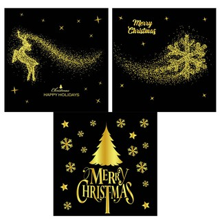 Christmas Window Decals.3pcs Christmas Window Decals Wall Stickers For Office