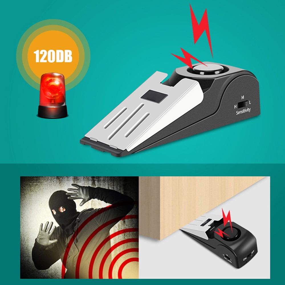 120DB Wireless Door Stop Alarm Door Stopper Portable Home Travel Security System