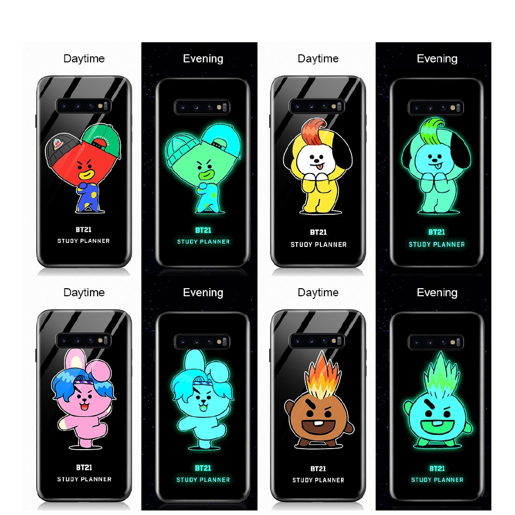 Luminous Casing Samsung Galaxy S7 S7 Edge S8 S9 Plus Bts Bangtan