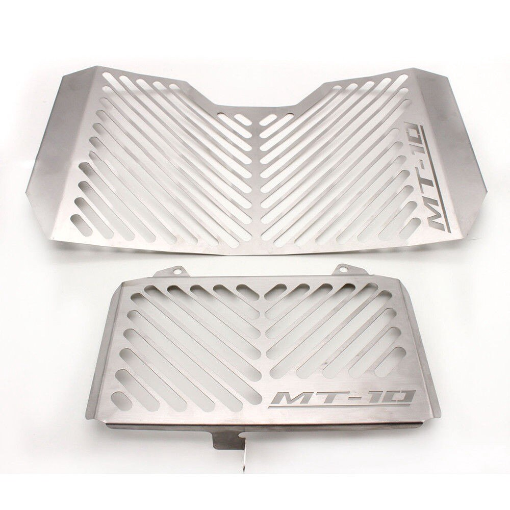MT-10 Motorbike Stainless Steel Radiator Grille Guard Cover//Oil Kit Guard for Yamaha MT-10 MT 10 MT10 2016 2017 2018