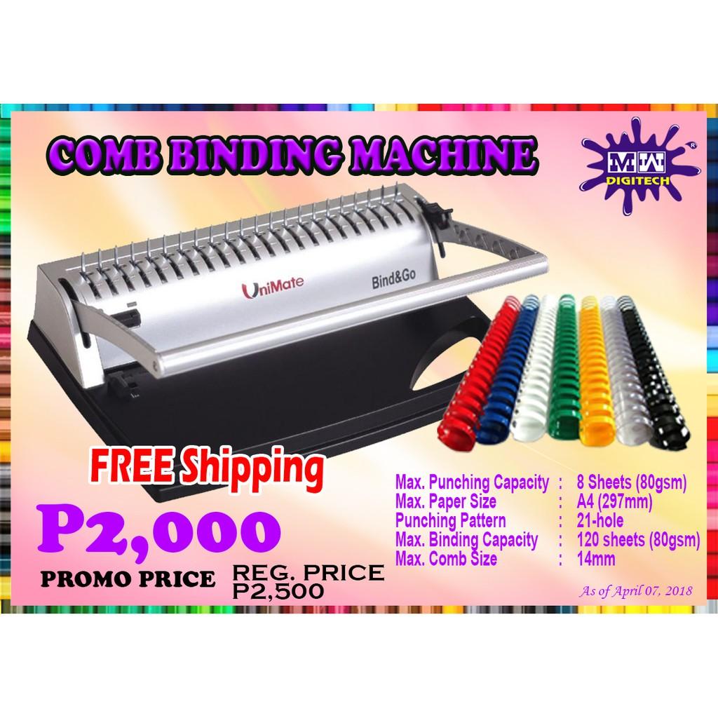 Comb Binding Machine A4