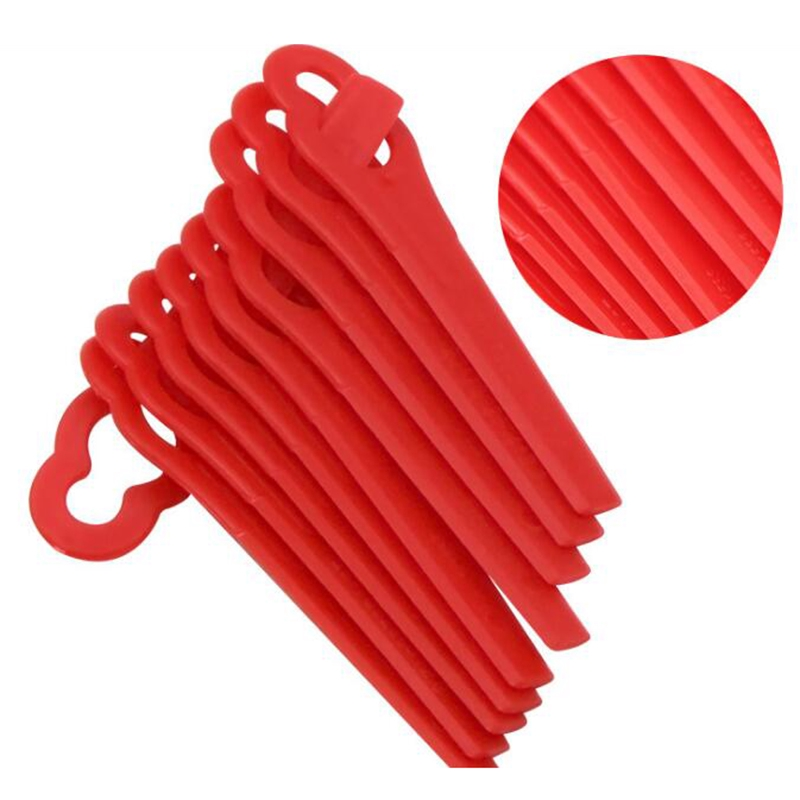 Strimmer Plastic blades Attachment 10pcs Red Sovereign Lawnmower MEH1129B MEH29