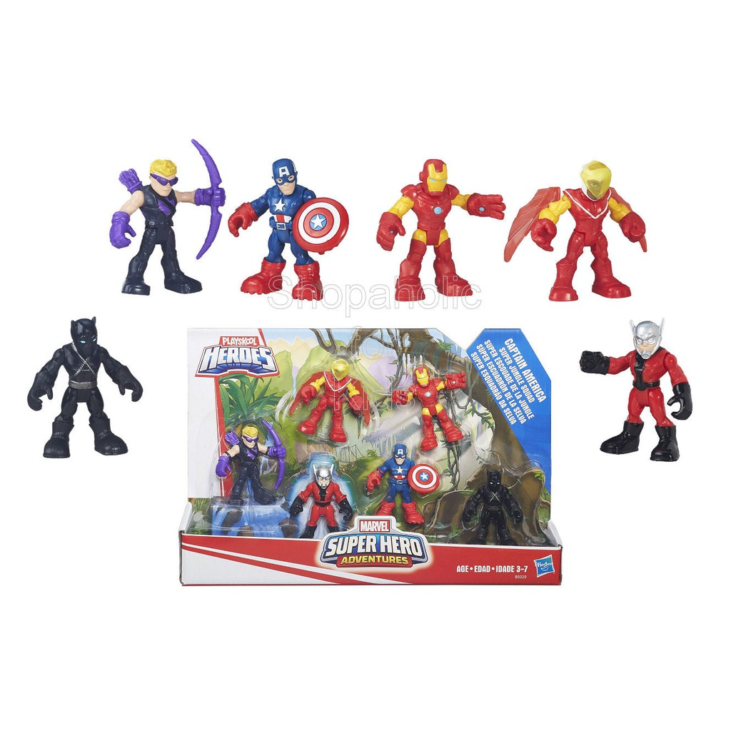 Playskool Heroes Super Hero Adventures Captain America Figure Pack Jungle Squad